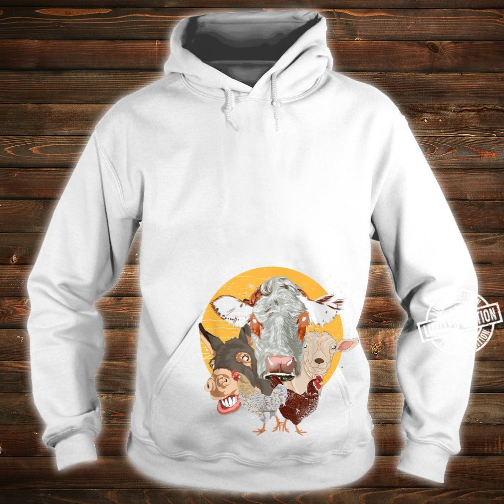 Farm Animal Donkey Goat Cow Chicken Farm Animal Shirt hoodie