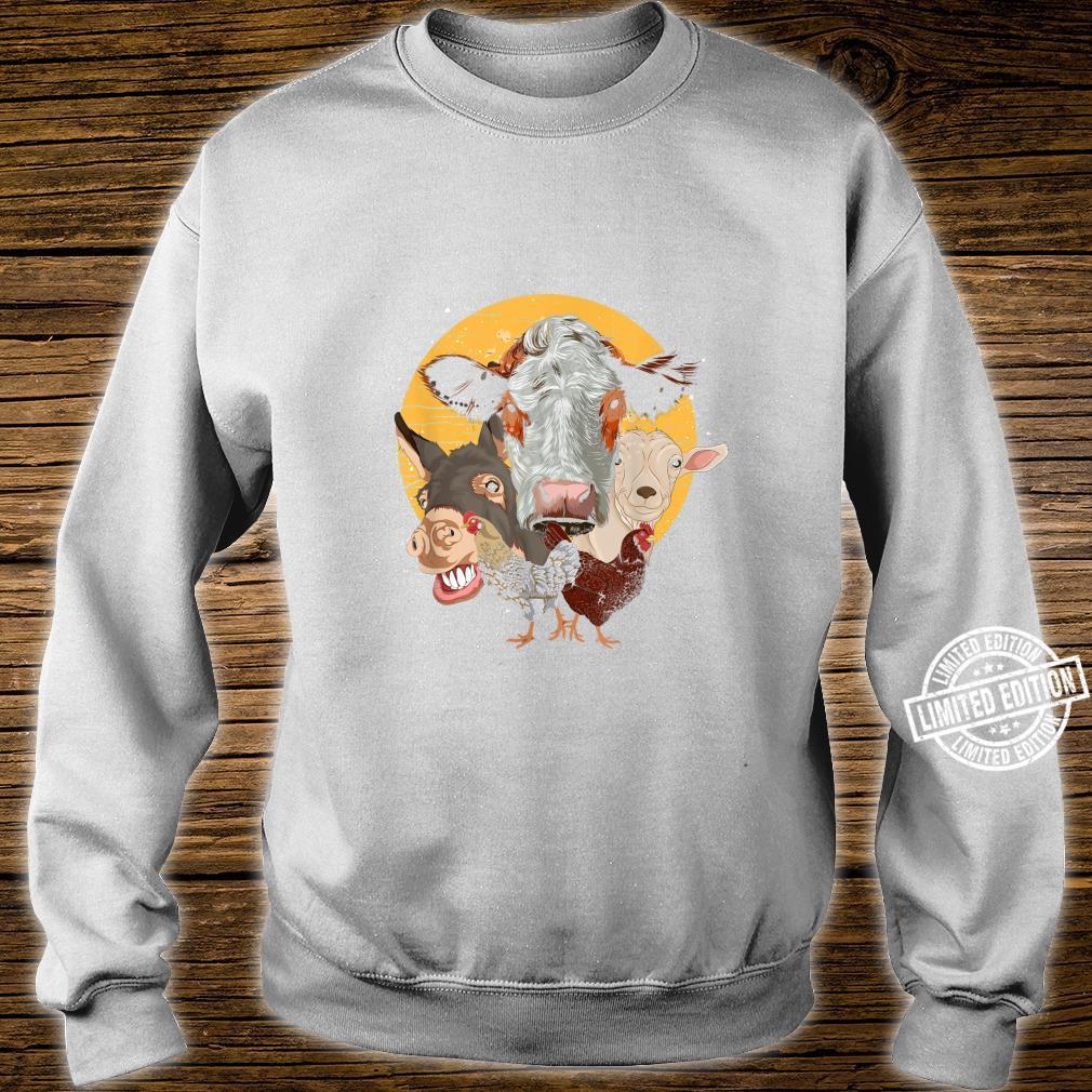 Farm Animal Donkey Goat Cow Chicken Farm Animal Shirt sweater