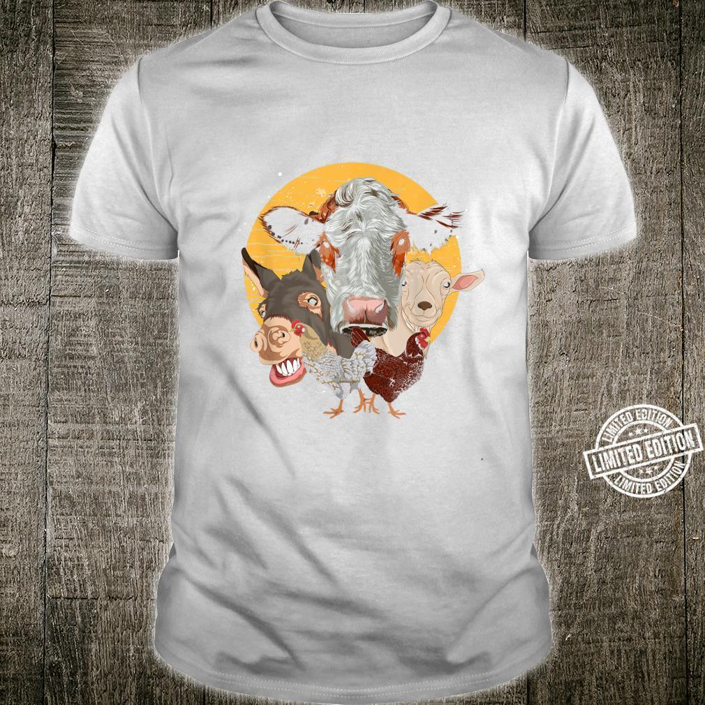 Farm Animal Donkey Goat Cow Chicken Farm Animal Shirt