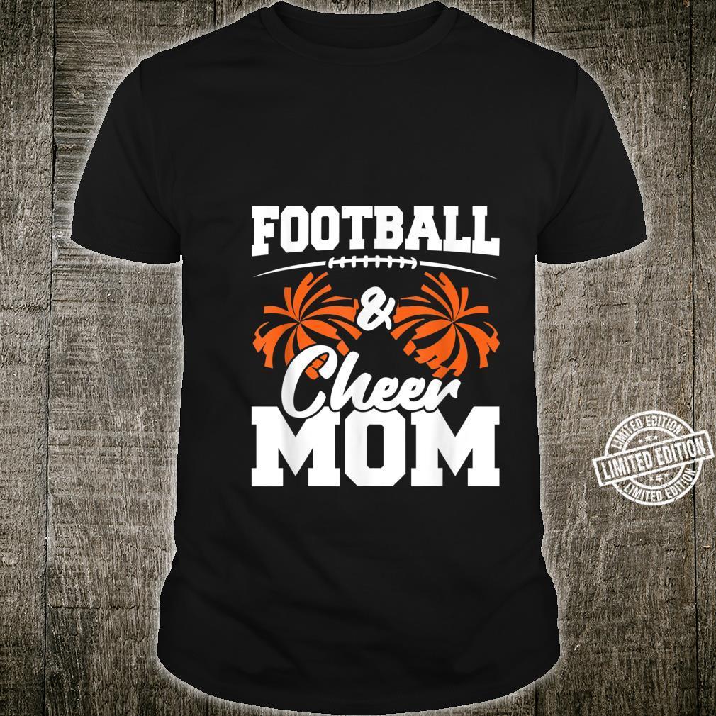 Football and Cheer Mom High School Sports Cheerleading Shirt