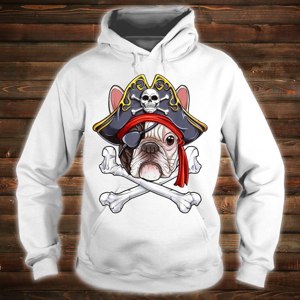 Französische Bulldogge Pirat Jolly Roger Flagge Totenkopf gekreuzte Knochen Geschenk Shirt hoodie