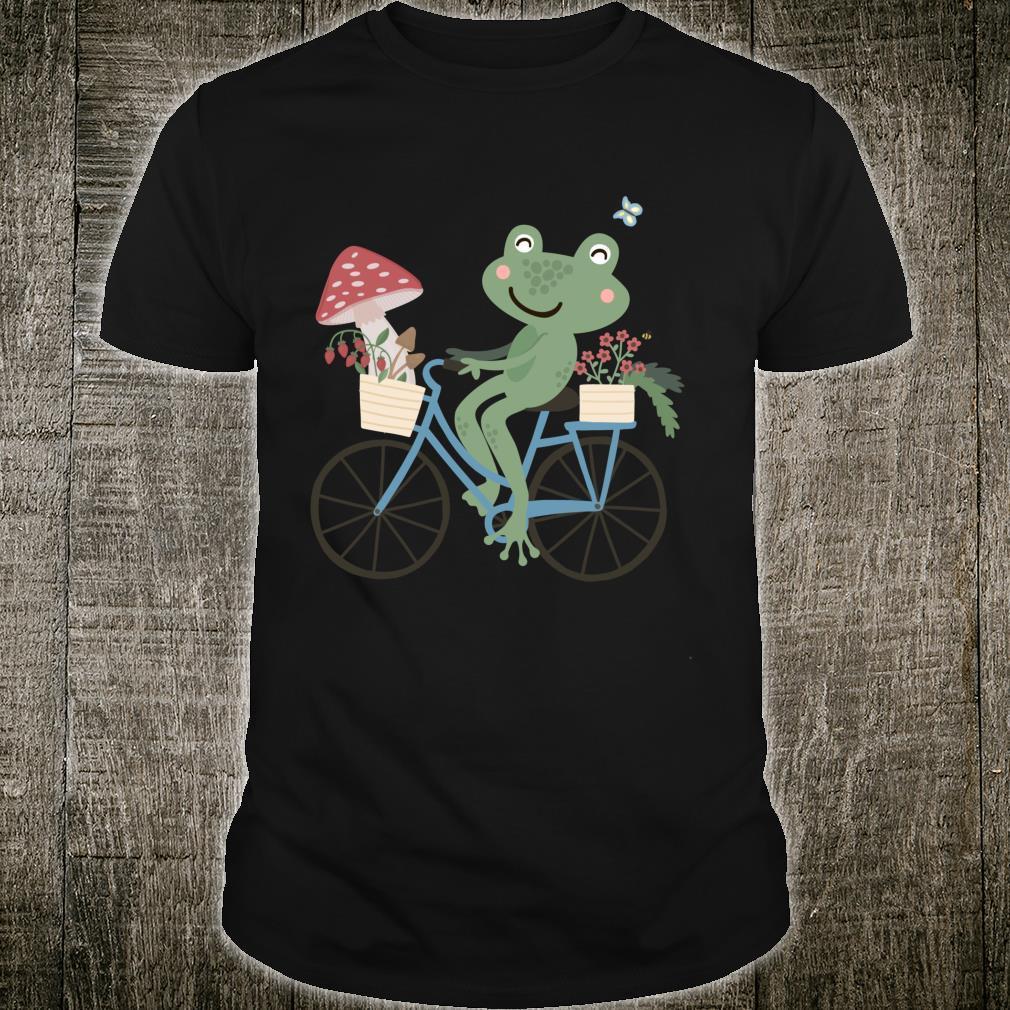 Frog Cottagecore Aesthetic Kawaii Frog Cottage Core Shirt