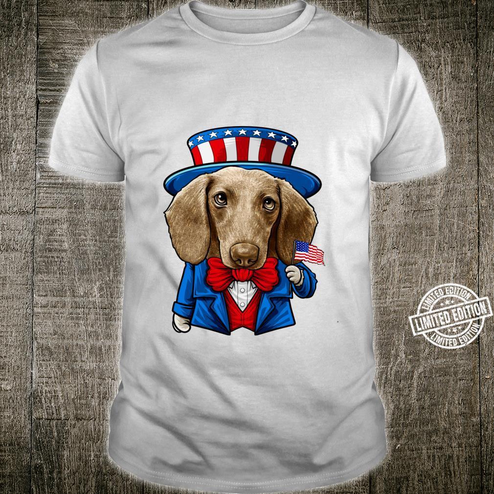 Funny 4th of July Dachshund, USA Doxie Shirt