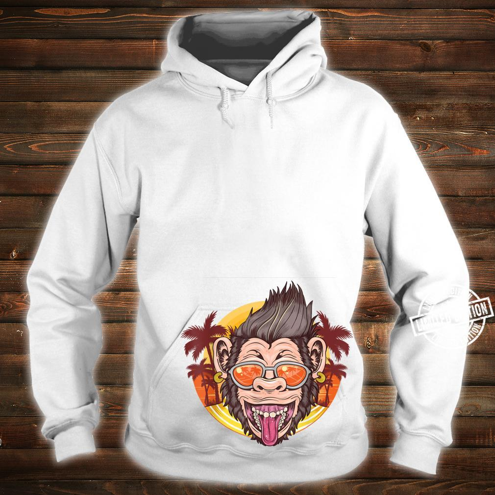 Funny Chimpanzee Face Distressed Tropical Chimp Design Shirt hoodie