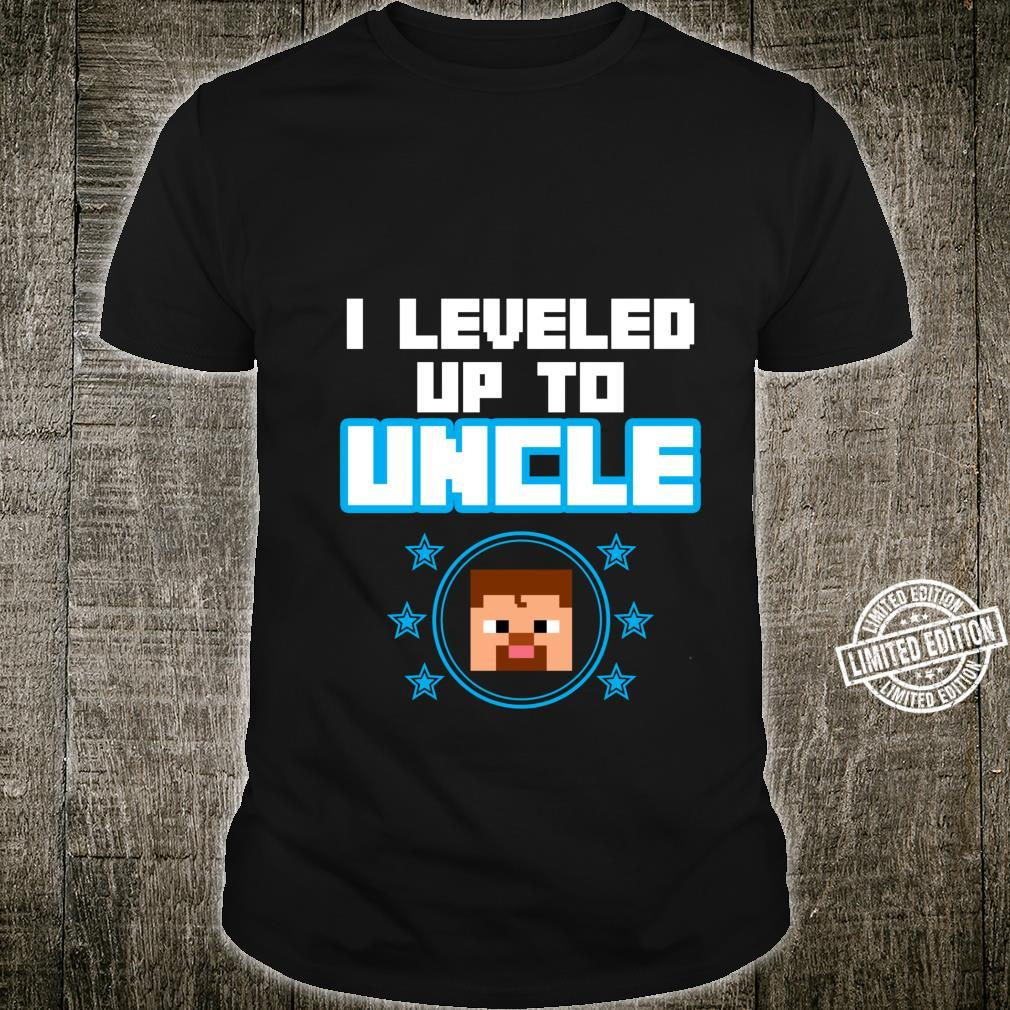 Funny I Leveled Up To Uncle Cute Video Gamer Boys Shirt