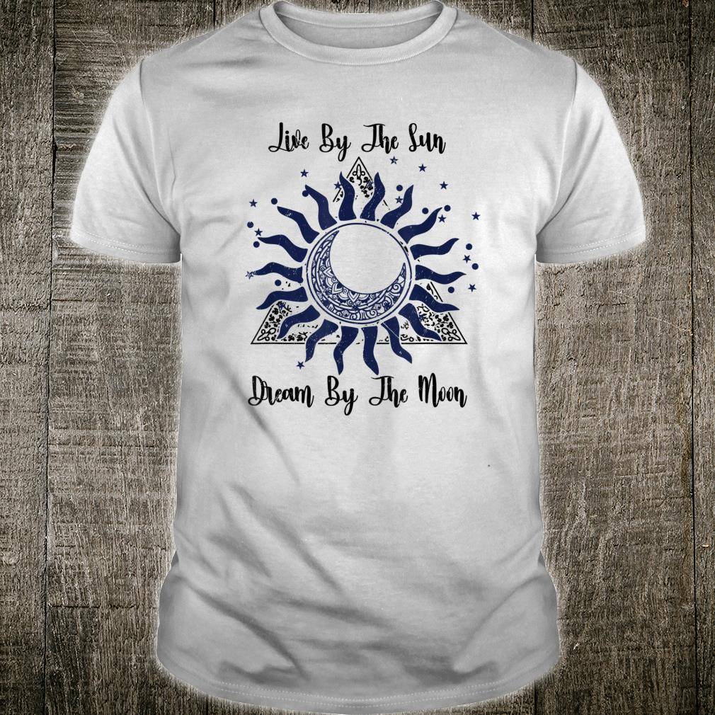 Funny Meditation Live By The Sun Dream By The Moon Boho Shirt
