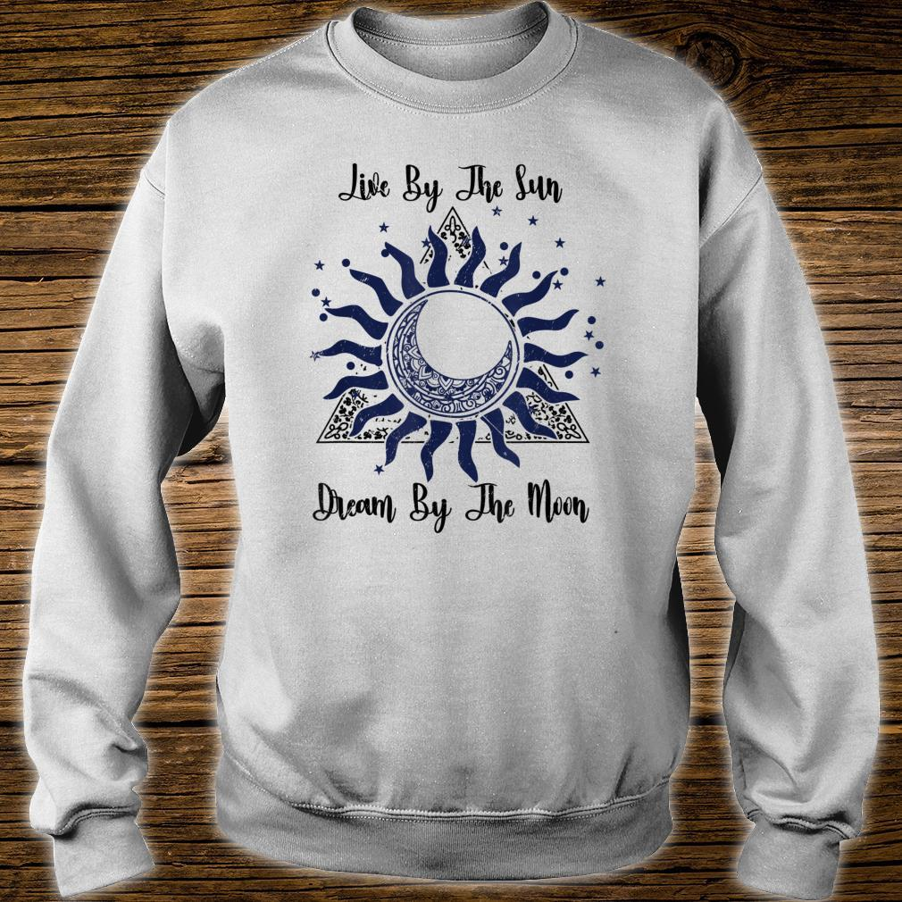 Funny Meditation Live By The Sun Dream By The Moon Boho Shirt sweater