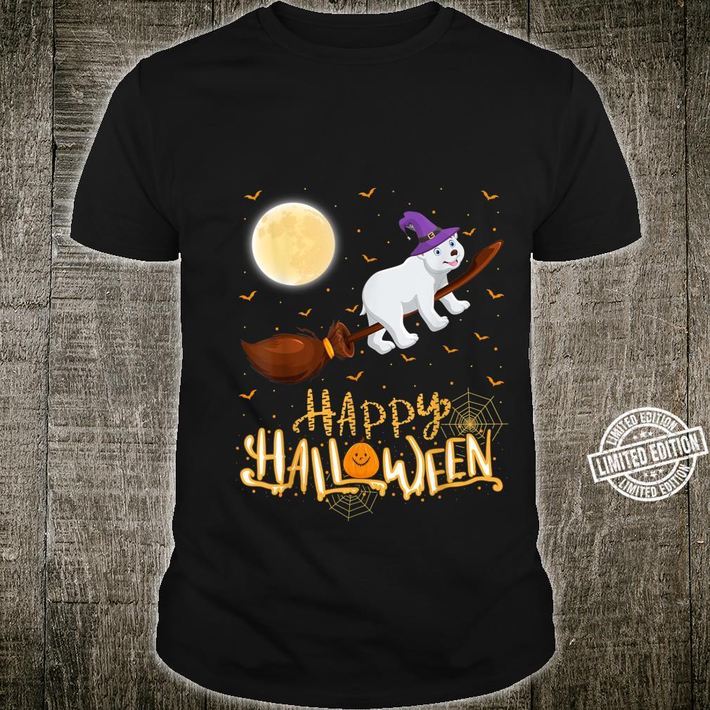 Funny Polar Bear Ride Witch Shotgun Polar Bear Halloween Shirt