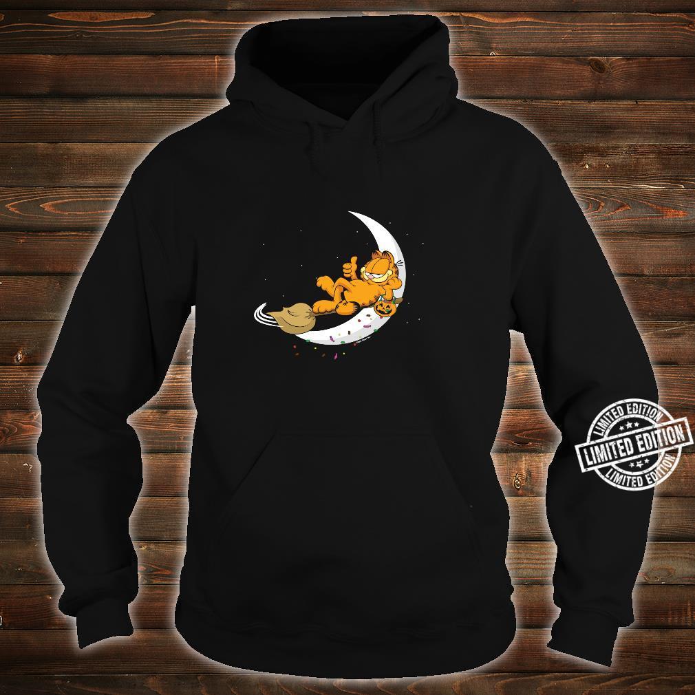 Garfield Halloween Crescent Moon Broom Riding Garfield Shirt hoodie