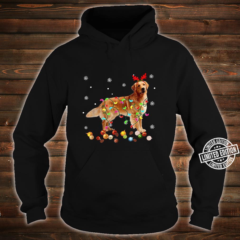 Golden Retriever Christmas Lights Xmas Dog Shirt hoodie