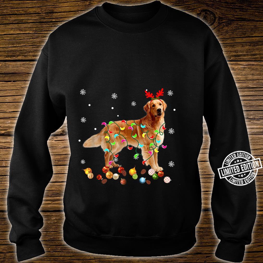 Golden Retriever Christmas Lights Xmas Dog Shirt sweater
