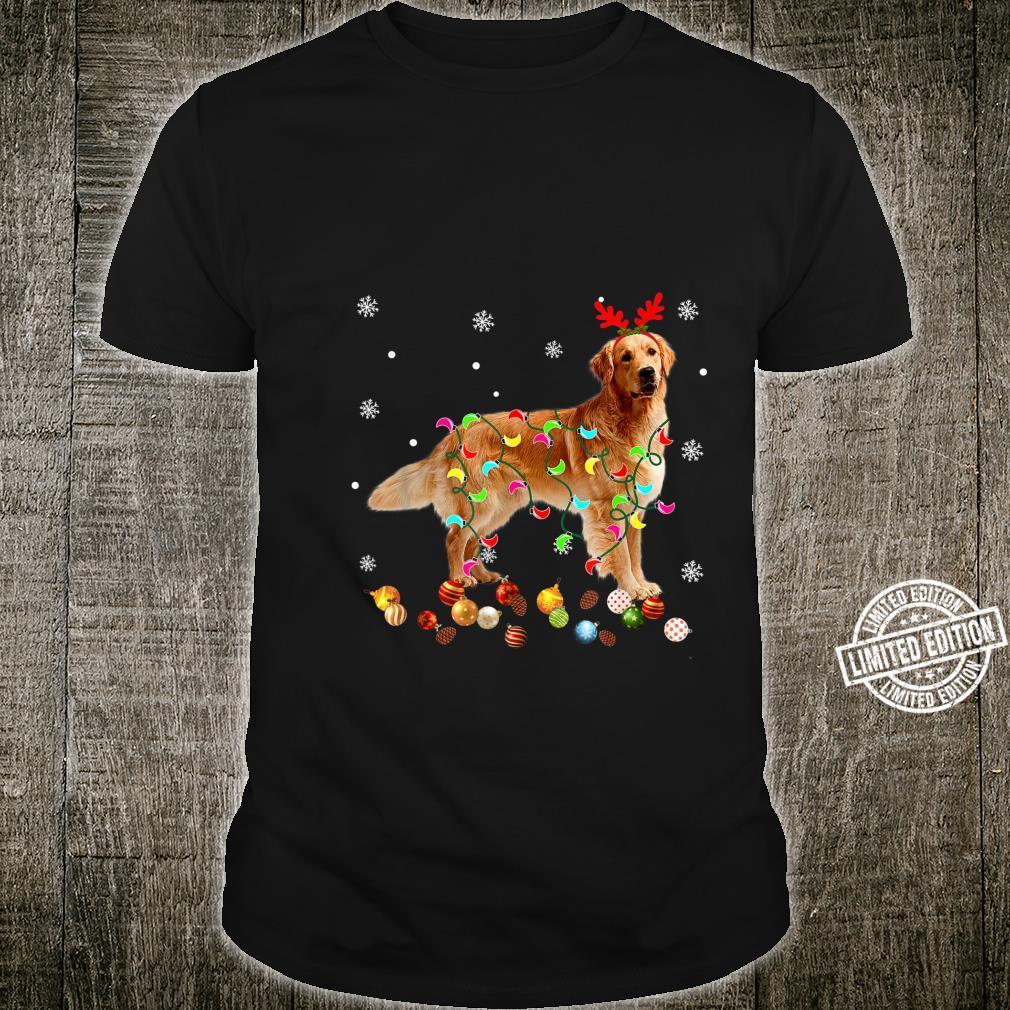 Golden Retriever Christmas Lights Xmas Dog Shirt