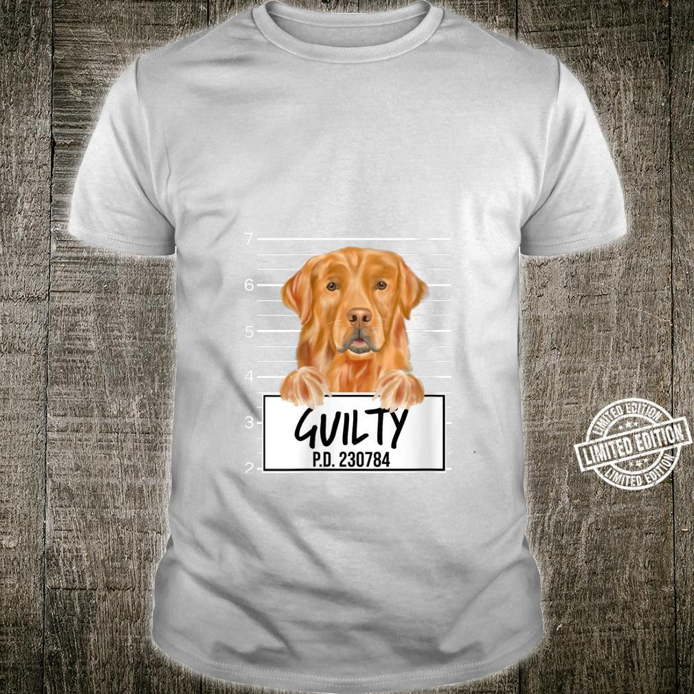 Golden Retriever Mugshot Guilty Dog Shirt