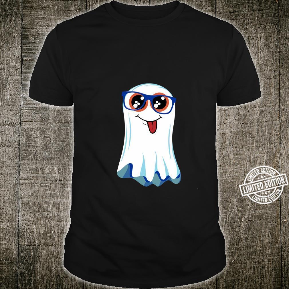 Halloween Cute Boo Ghost In Glasses Boys & Girls Costume Shirt