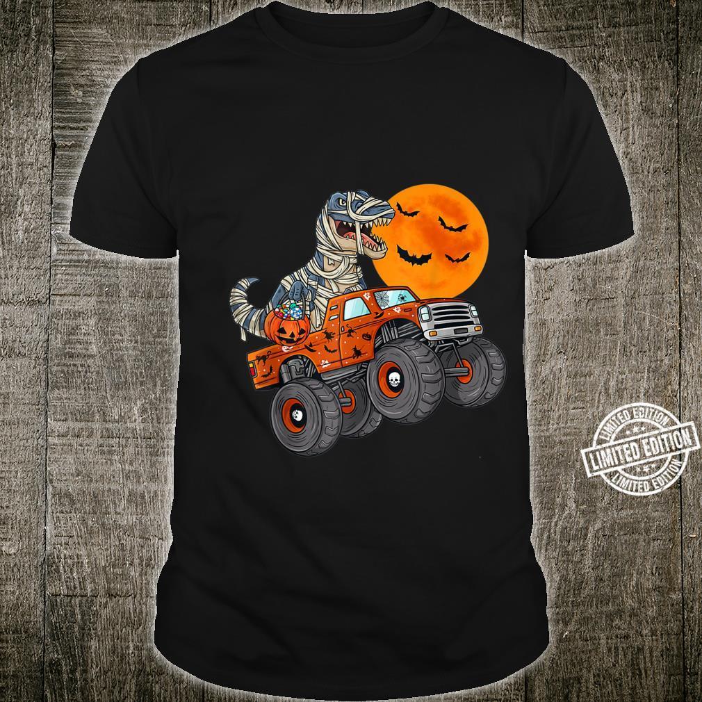 Halloween Mummy T Rex Monster Truck Boysns Shirt