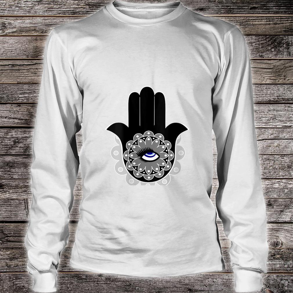 Hamsa Eye Roll Evil Eye Shirt long sleeved