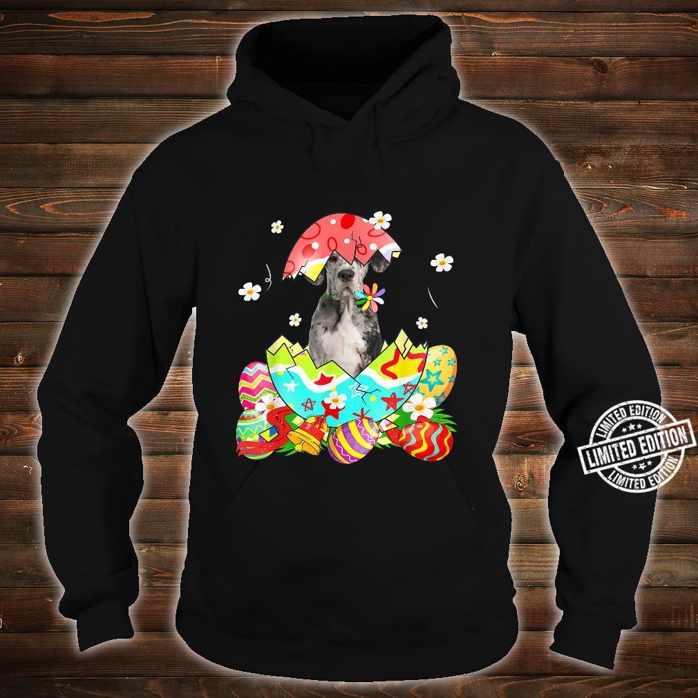 Happy Easter Cute Dane Egg Dog Shirt hoodie
