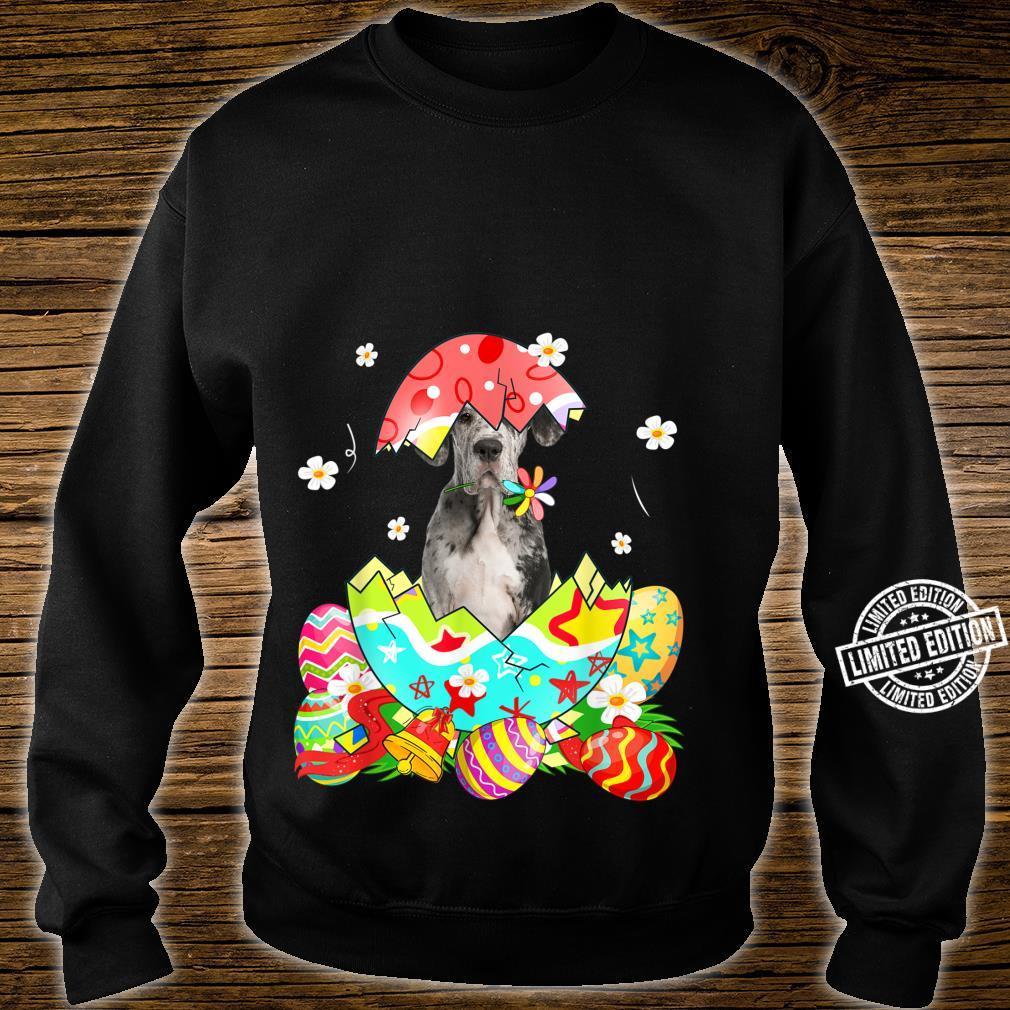 Happy Easter Cute Dane Egg Dog Shirt sweater