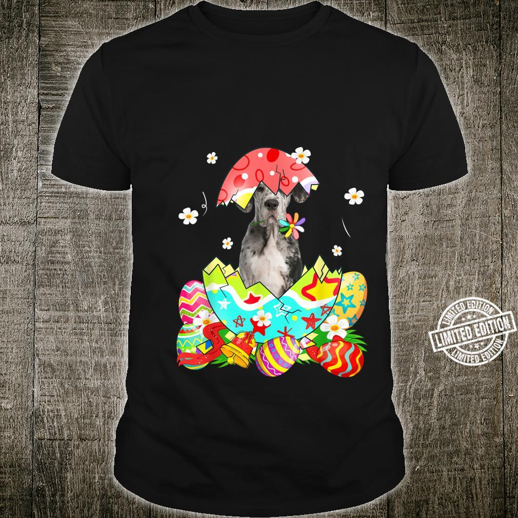 Happy Easter Cute Dane Egg Dog Shirt