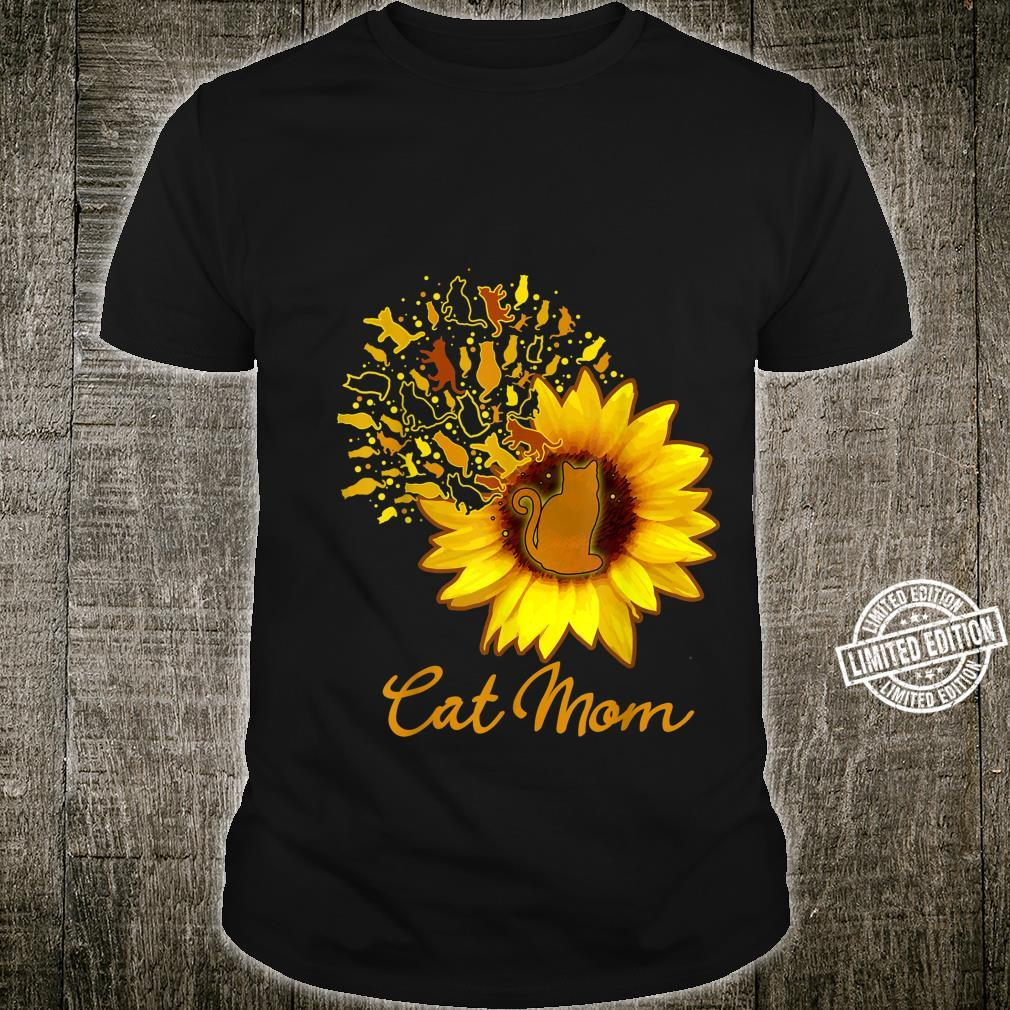 Happy Mother's Day Cat Mom Sunflower Mama Mothers Cute Shirt