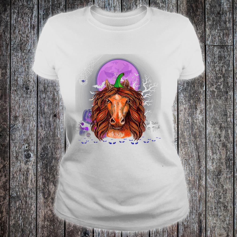 Horse Pumpkin Halloween Horse Halloween Costume Shirt ladies tee