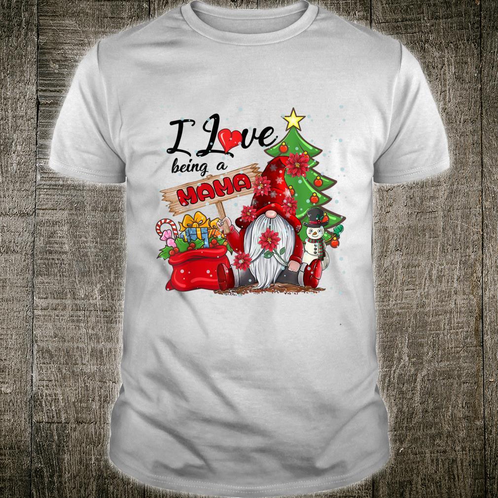I Love Being A Mama Gnome Plaid Christmas Shirt
