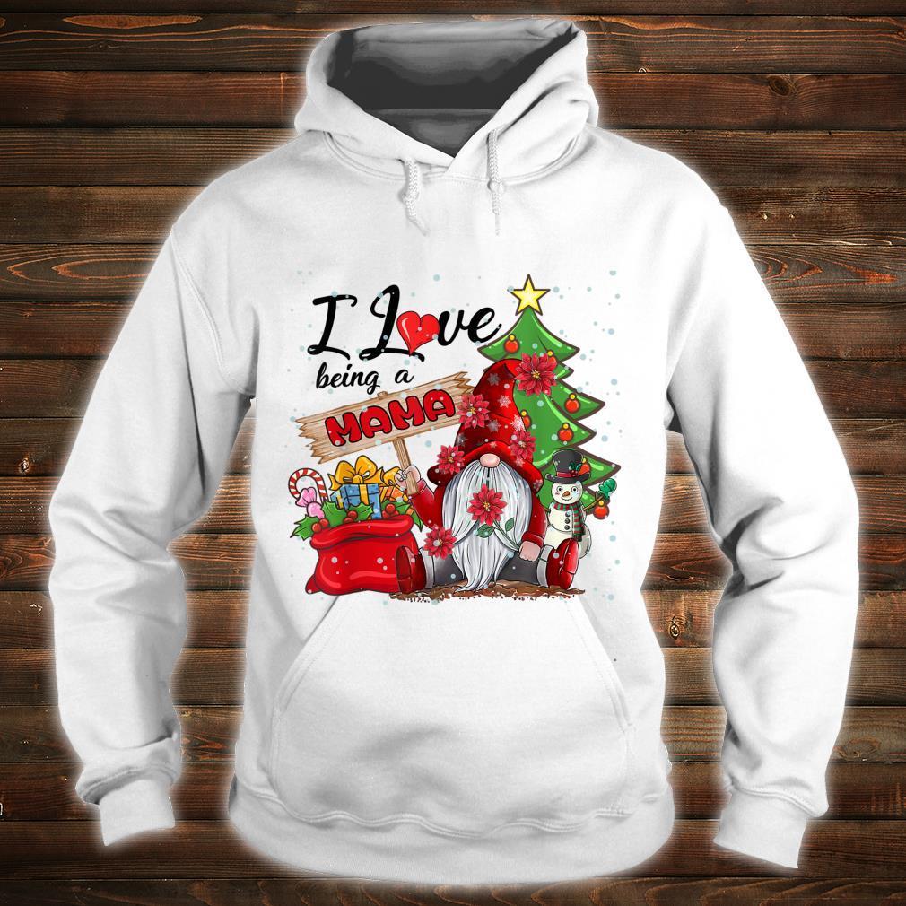 I Love Being A Mama Gnome Plaid Christmas Shirt hoodie