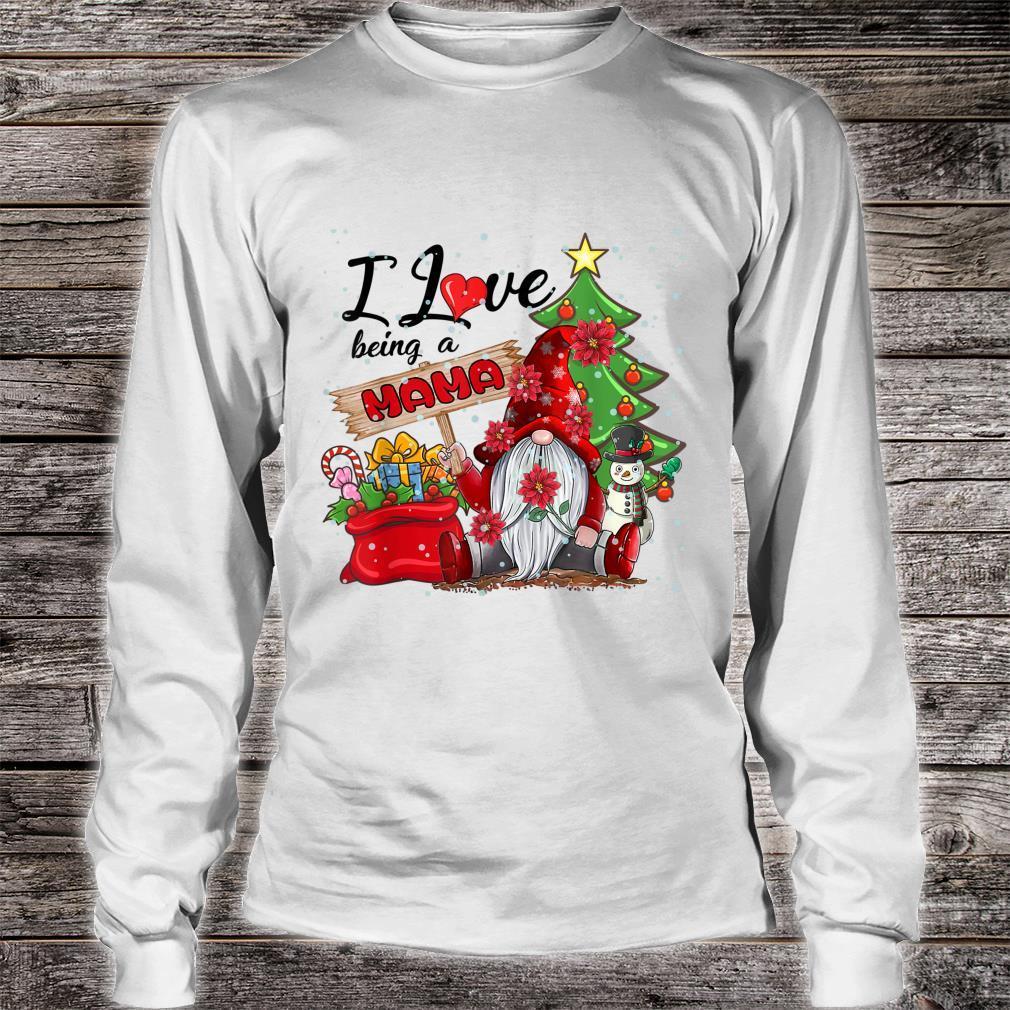 I Love Being A Mama Gnome Plaid Christmas Shirt long sleeved
