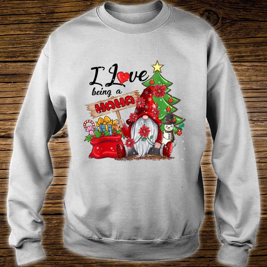 I Love Being A Mama Gnome Plaid Christmas Shirt sweater