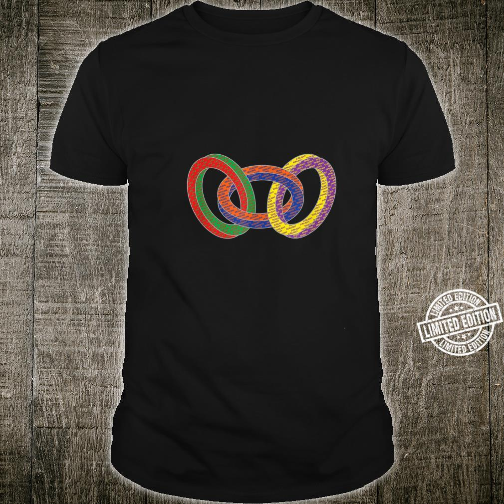 Interlocking colored circles LGBTQ Apparel Shirt