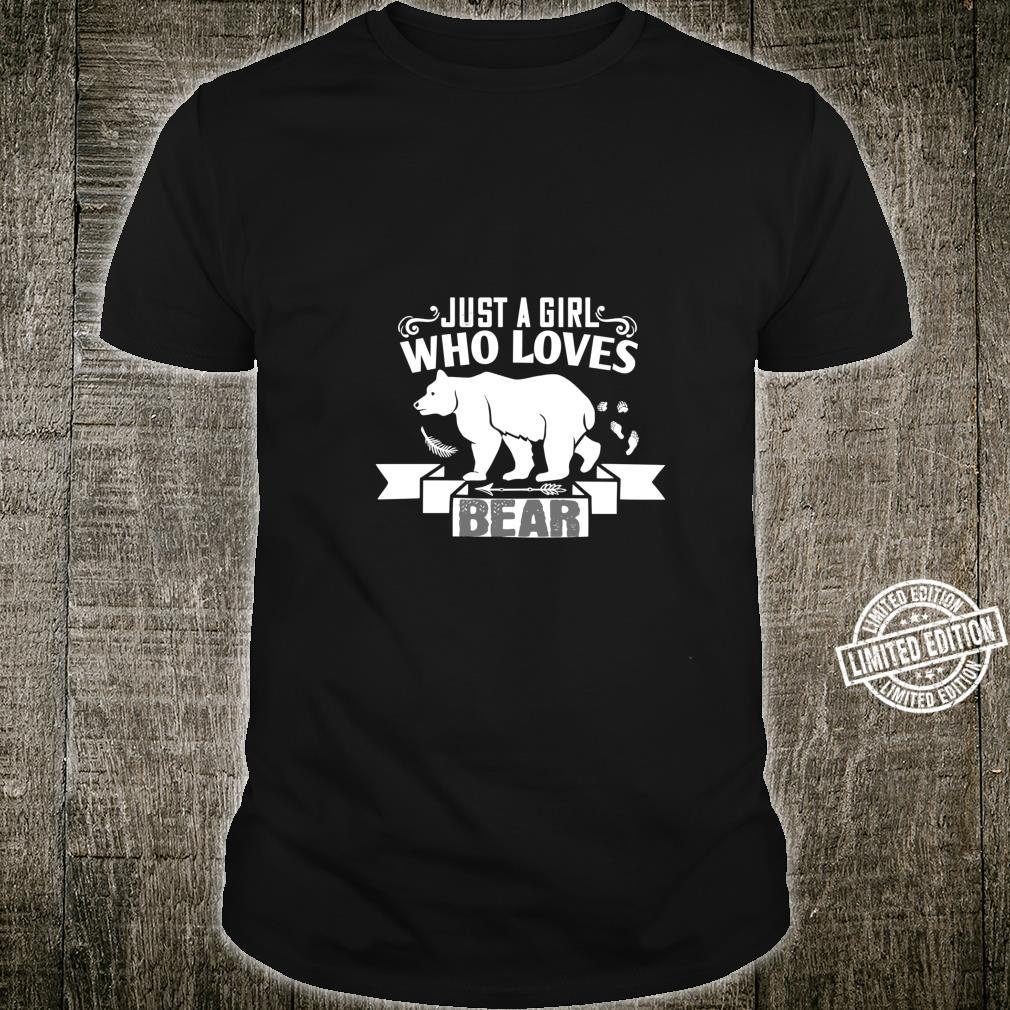 Just A Girl Who Loves Bear Animal Shirt