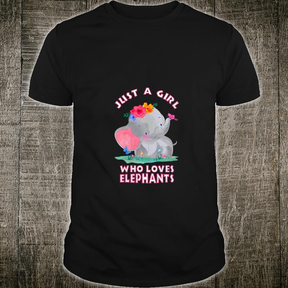 Just a Girl Who Loves Elephants Shirt