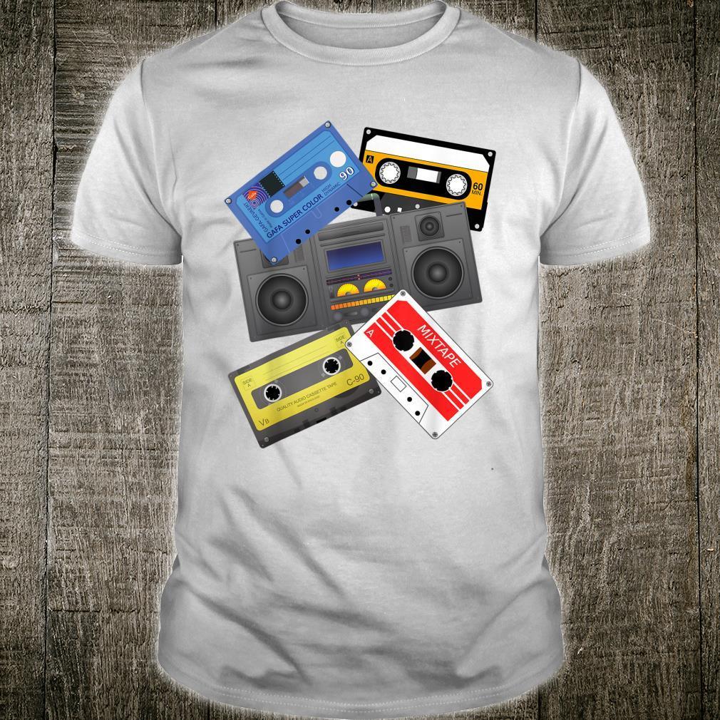 Kassettenbänder Mixtapes 1980er Jahre Radio Musik Grafik Shirt
