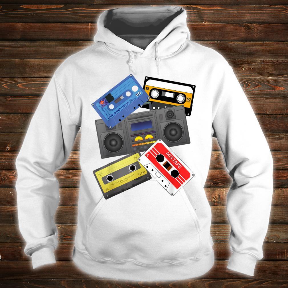 Kassettenbänder Mixtapes 1980er Jahre Radio Musik Grafik Shirt hoodie