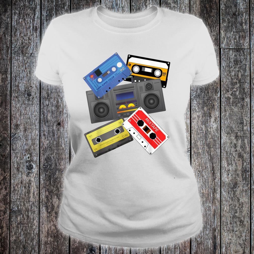 Kassettenbänder Mixtapes 1980er Jahre Radio Musik Grafik Shirt ladies tee