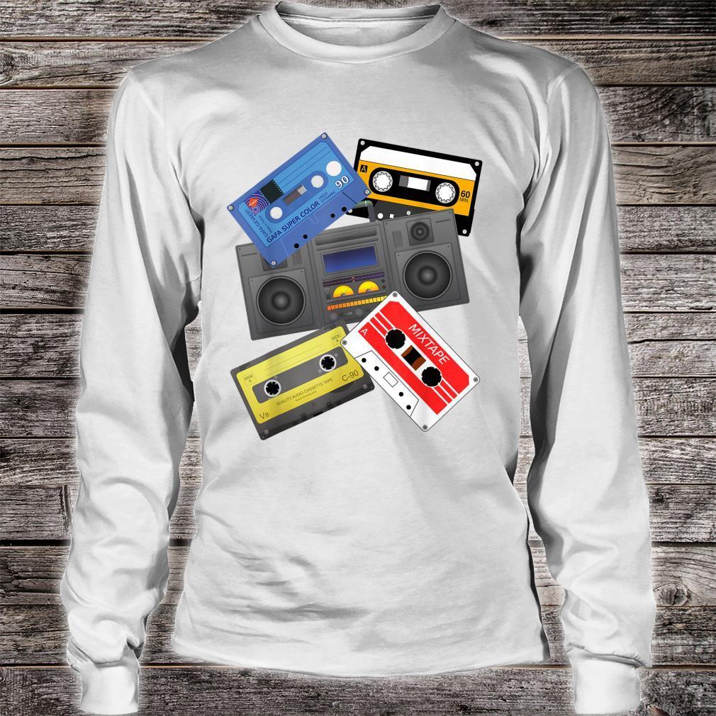 Kassettenbänder Mixtapes 1980er Jahre Radio Musik Grafik Shirt long sleeved