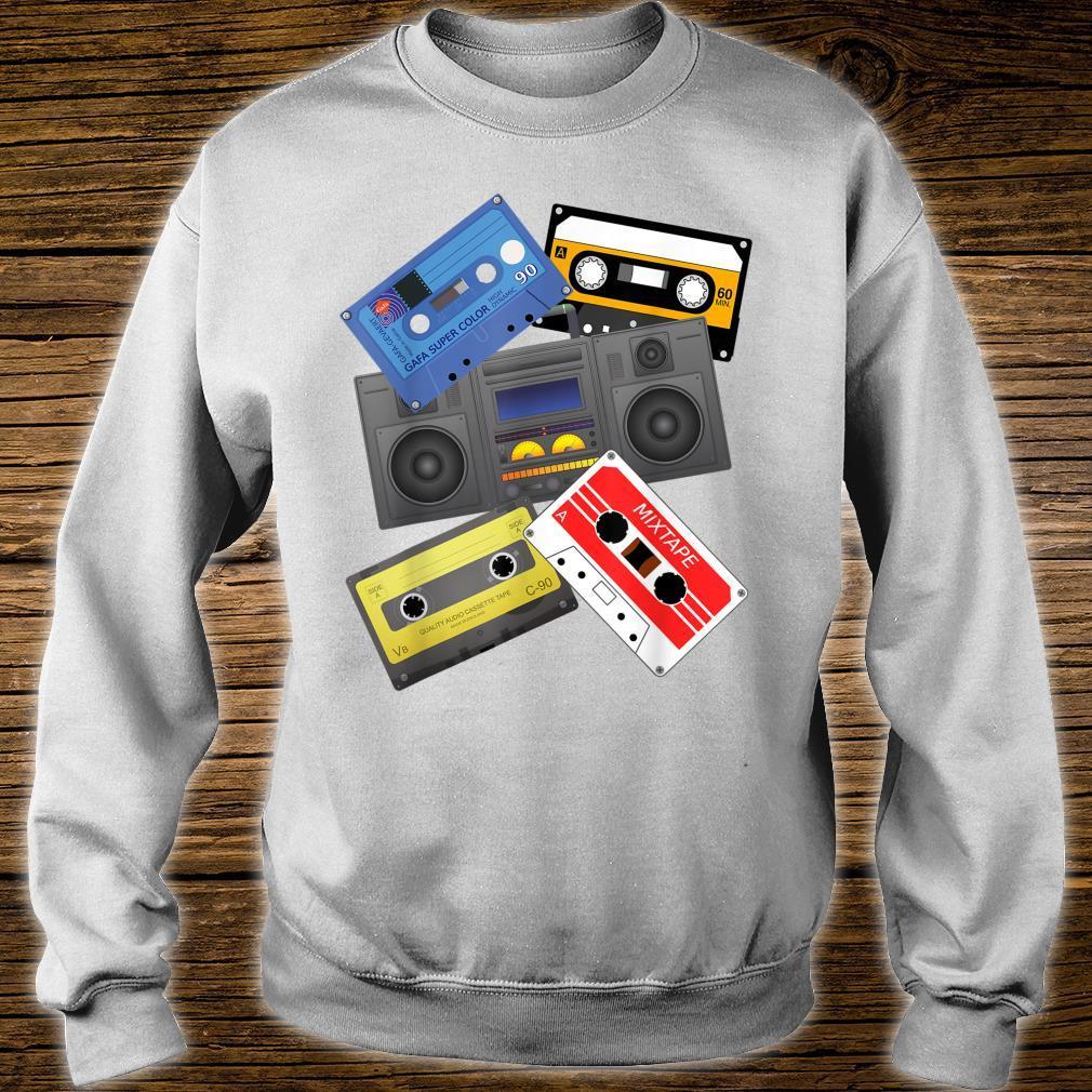 Kassettenbänder Mixtapes 1980er Jahre Radio Musik Grafik Shirt sweater