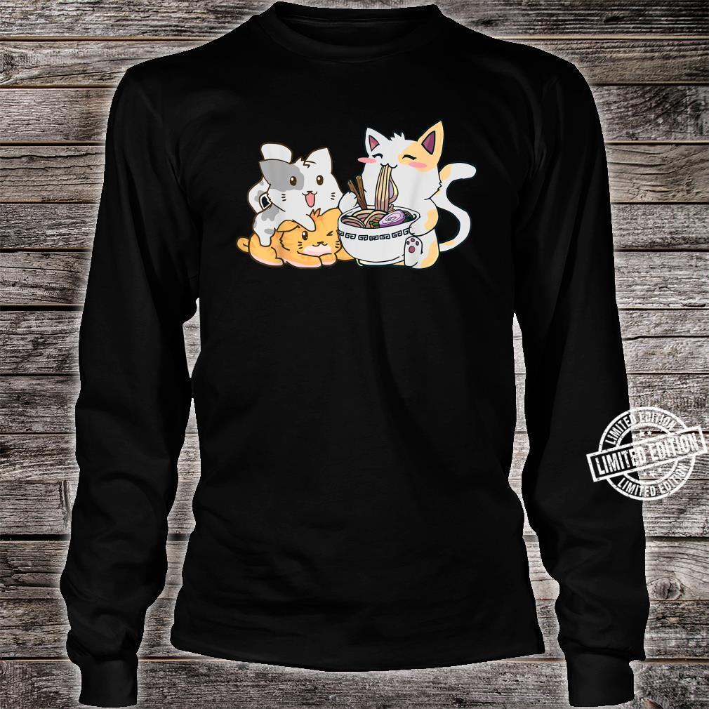 Kawaii Neko Ramen Anime Cat Noodle Shirt long sleeved