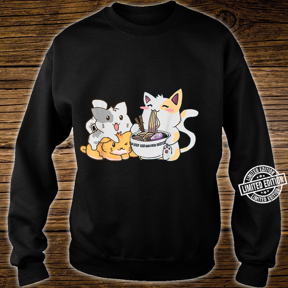 Kawaii Neko Ramen Anime Cat Noodle Shirt sweater