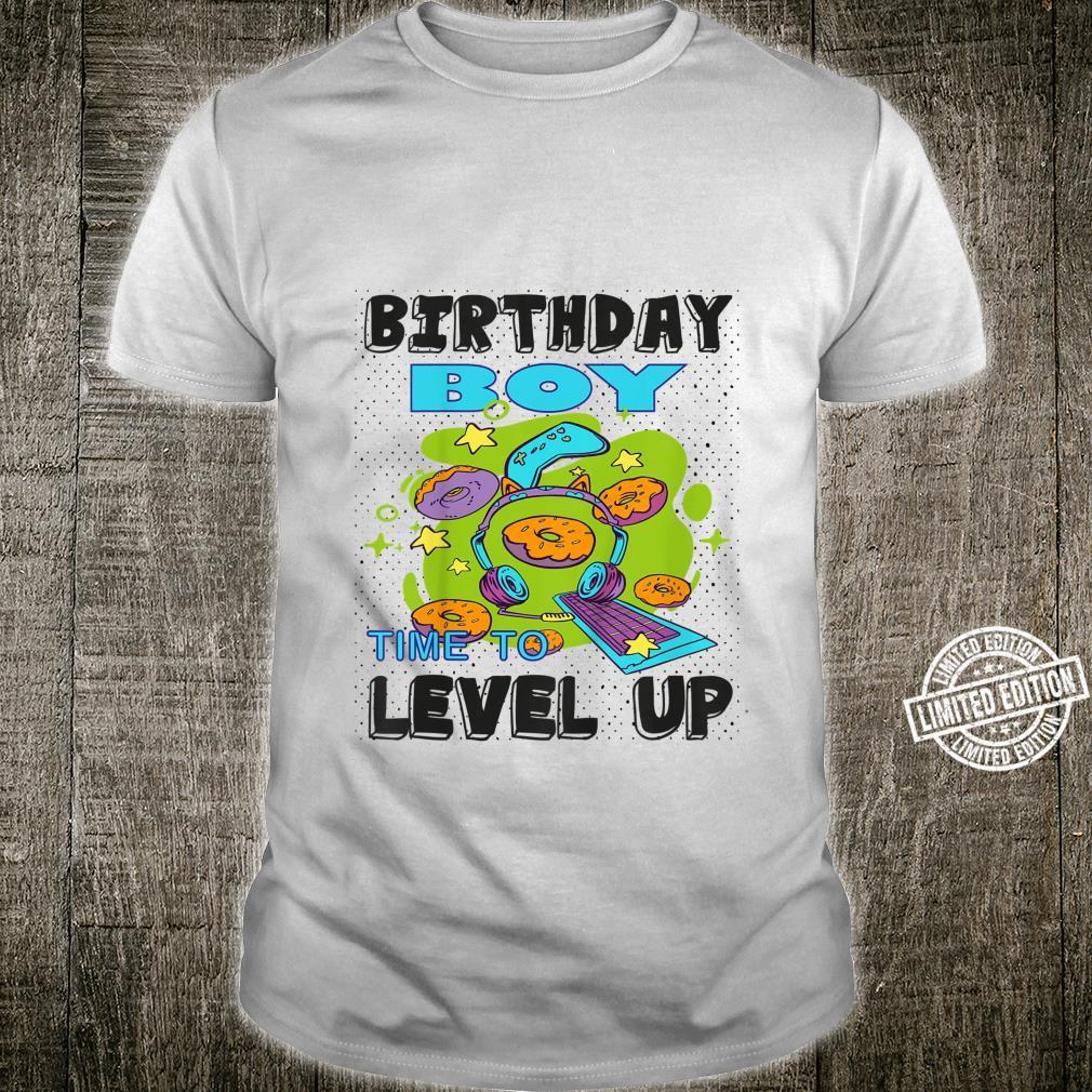 Kids Birthday Boy Time to Level Up Video Game Gamer Boy Shirt