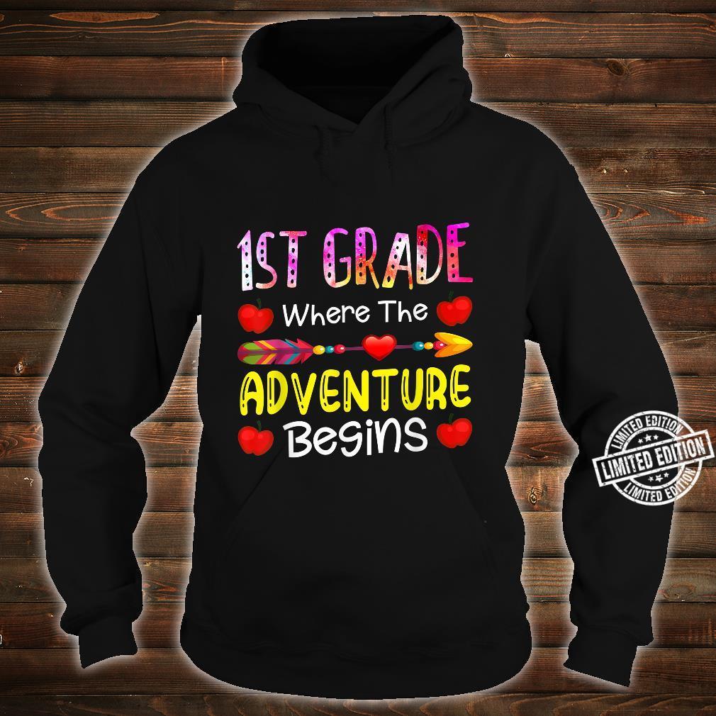 Kids First Grade Where The Adventure Begins Shirt hoodie