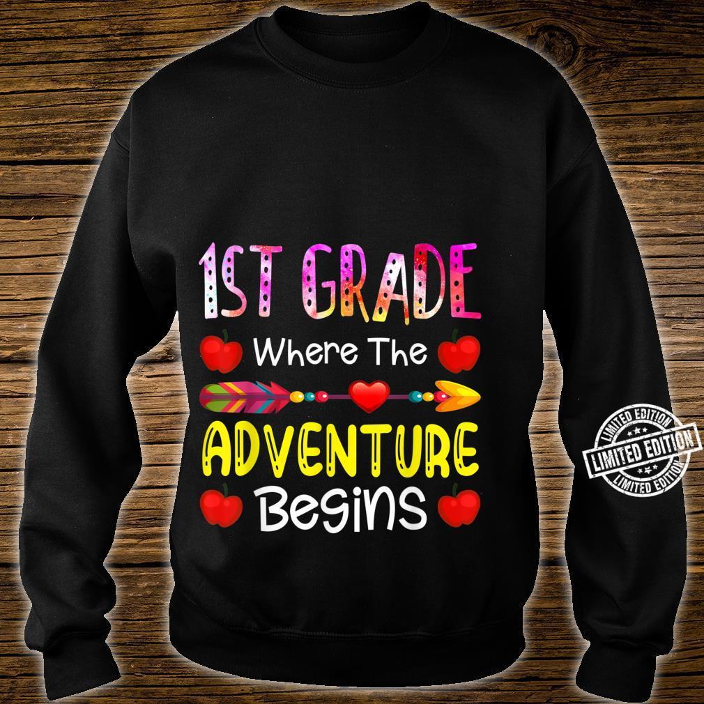 Kids First Grade Where The Adventure Begins Shirt sweater