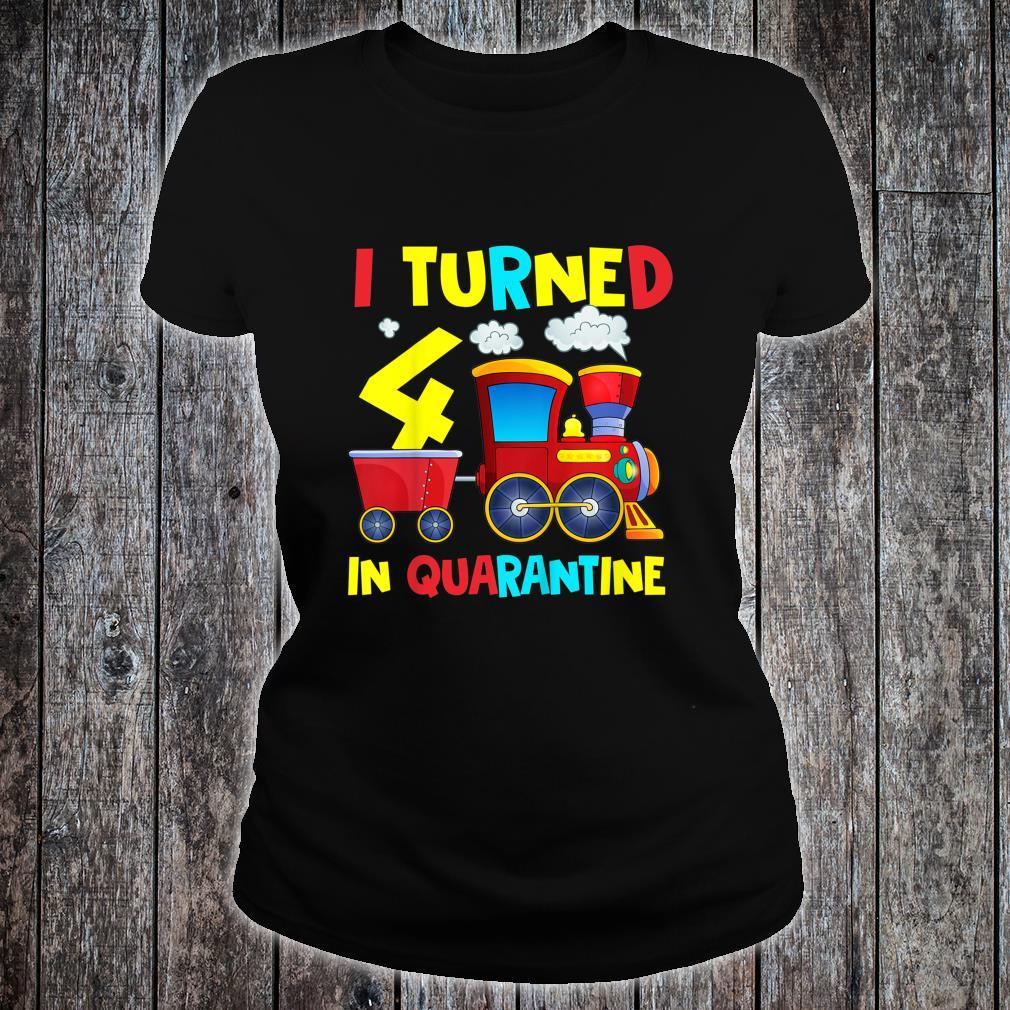 Kinder I Turned Quarantäne zum 4 Geburtstag, 10,2 cm Shirt ladies tee