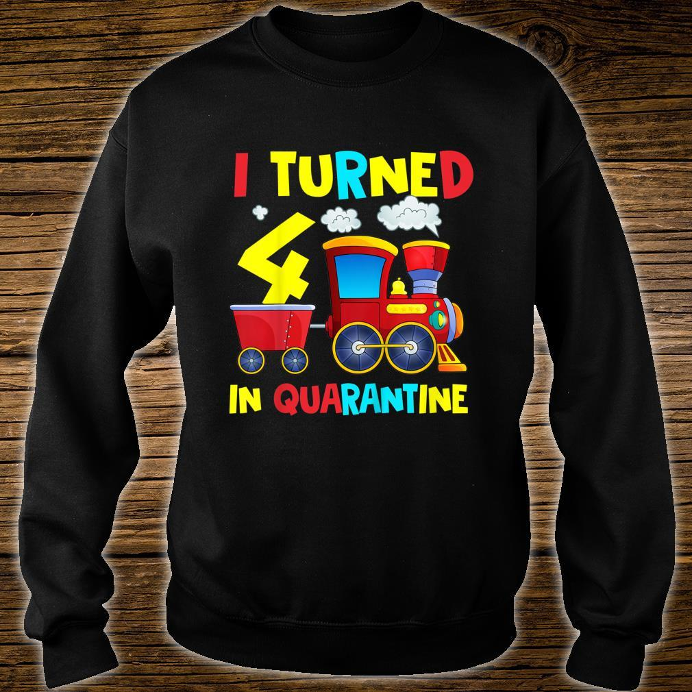 Kinder I Turned Quarantäne zum 4 Geburtstag, 10,2 cm Shirt sweater