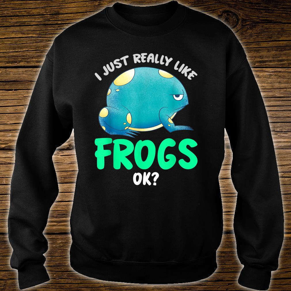 Kröten Geschenk Tierliebhaber Amphibien Frosch Shirt sweater
