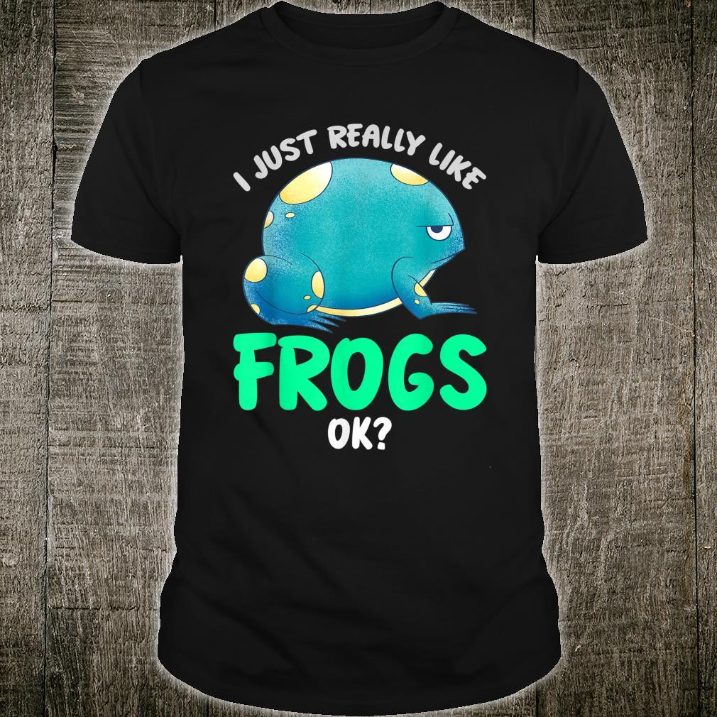 Kröten Geschenk Tierliebhaber Amphibien Frosch Shirt