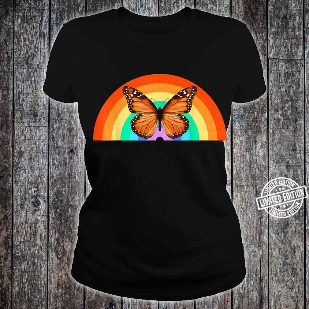 LGBT Monarchfalter Regenbogen Natur Erde Shirt ladies tee