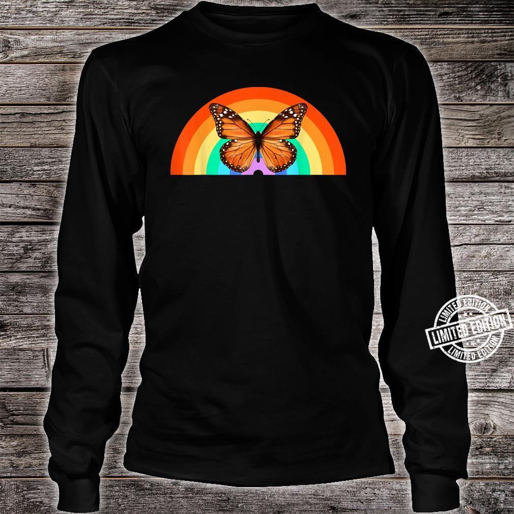 LGBT Monarchfalter Regenbogen Natur Erde Shirt long sleeved
