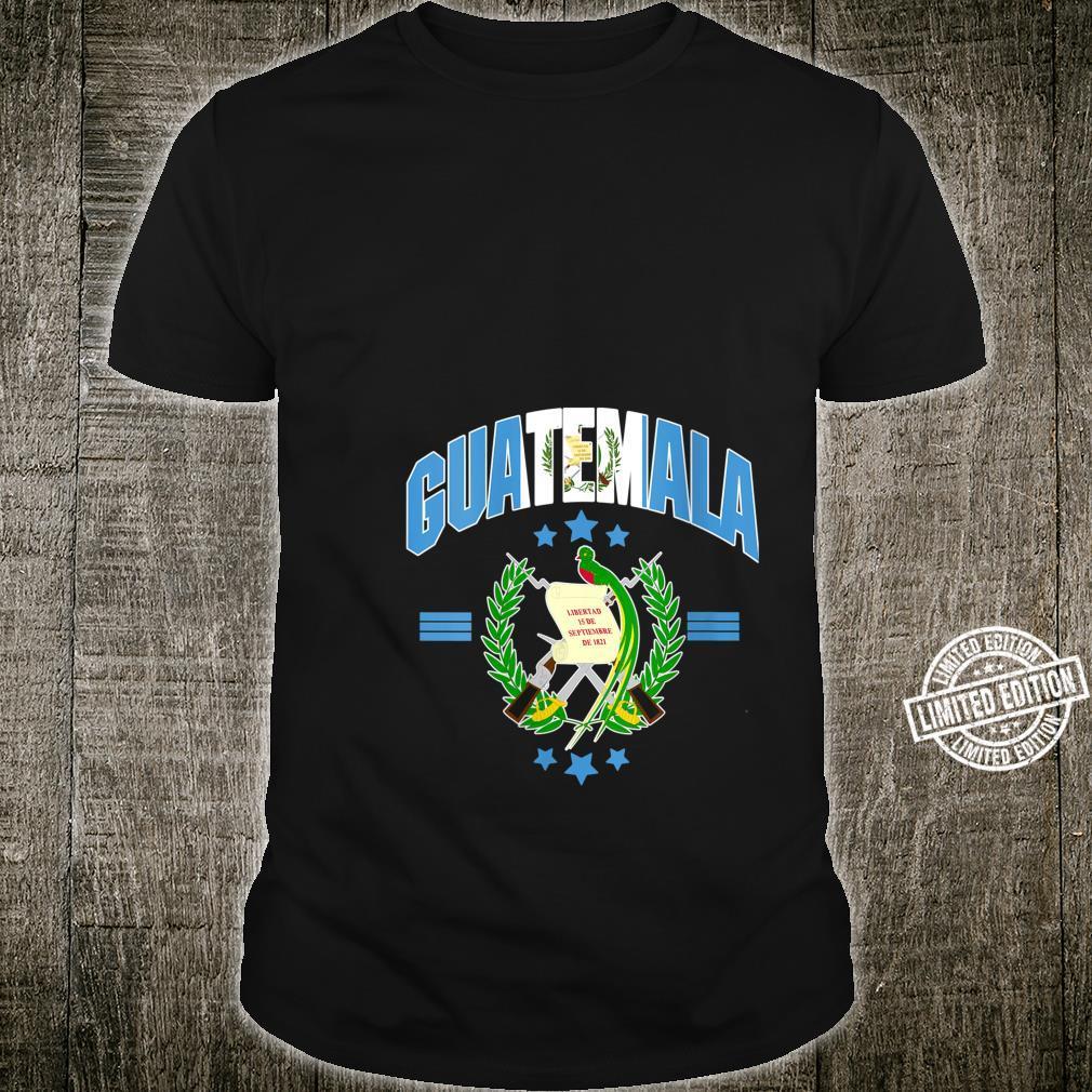Love Guatemala With Guatemala Flag Quetzal Bird Emblem Shirt