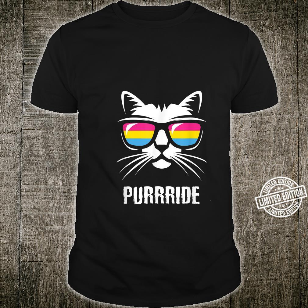 Lustige Pansexuelle Stolz Flagge Katze Purrride Shirt